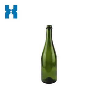 Dark Green 750ml Champagne Glass Bottle