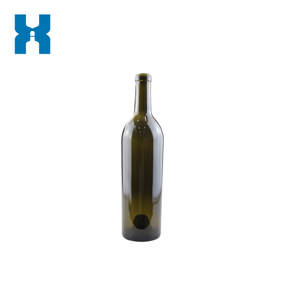Heavy 750ml Wine Glass Bottle
