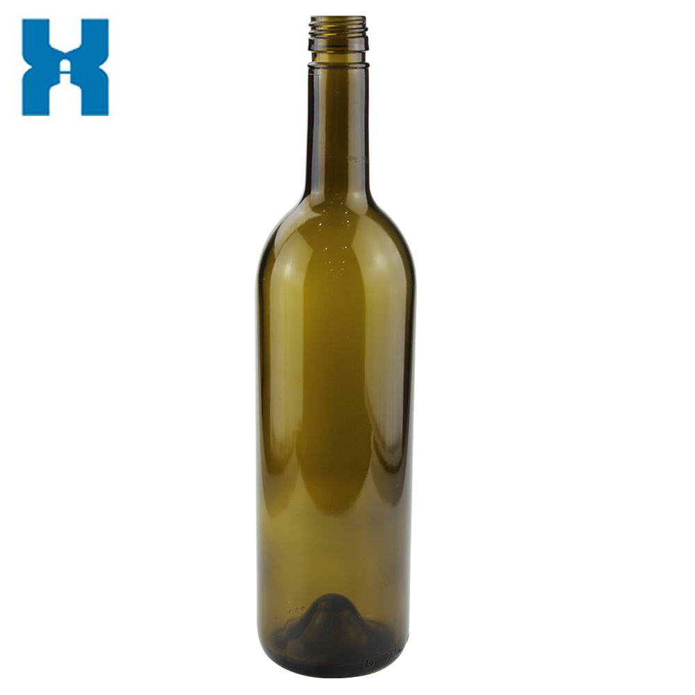 Screw Cap Wholesale Bordeaux 750ml Glass Wine Bottle