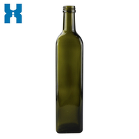 Oil Glass Bottle Olive Oil Bottle 750ml Square Oil Bottle 500ml Oil Bottle