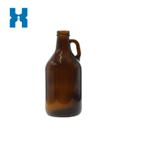 950ml Amber Spirits Glass Bottle with Handle